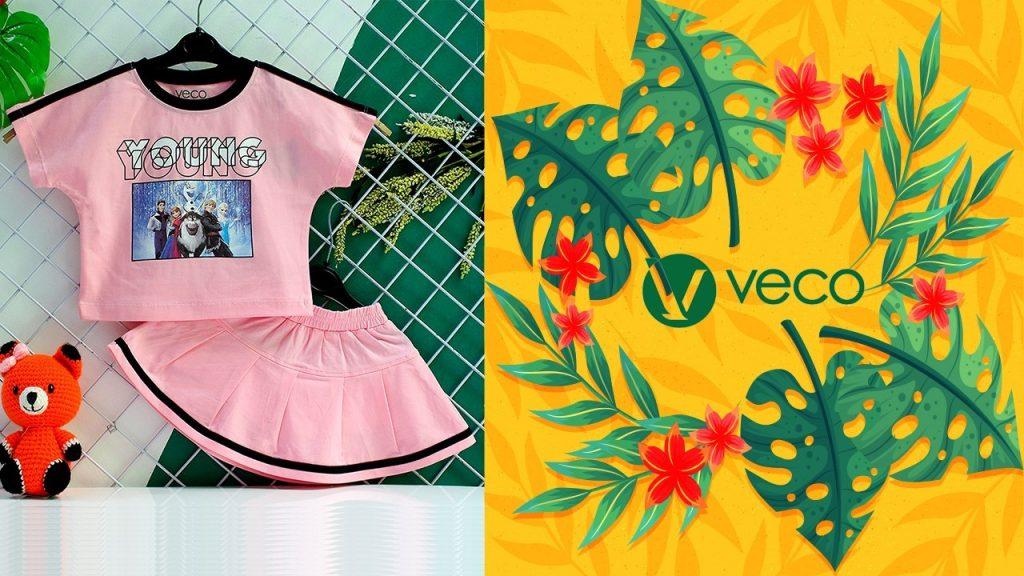 Quần áo trẻ em xuân hè 2021_Quần áo bé gái_BS202-080001 BỘ VÁY