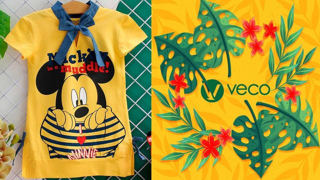 Quần áo trẻ em xuân hè 2021-Quần áo bé gái-D202-110002 ĐẦM
